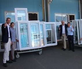 Представители profine GmbH посетили завод компании «Оконные технологии»